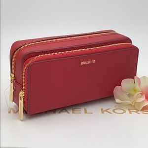 Michael Kors Large Double Travel Pouch Scarlet